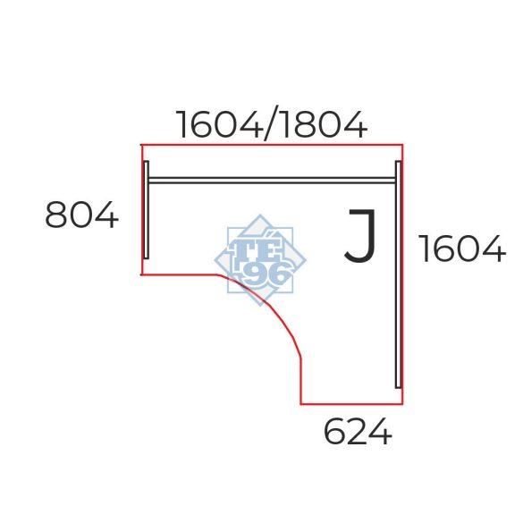 GS-160/160-J íróasztal (160 x 160 cm-es íves íróasztal)