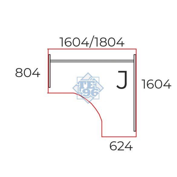 GS-180/160-J operatív íróasztal (180 x 160 cm-es íves)