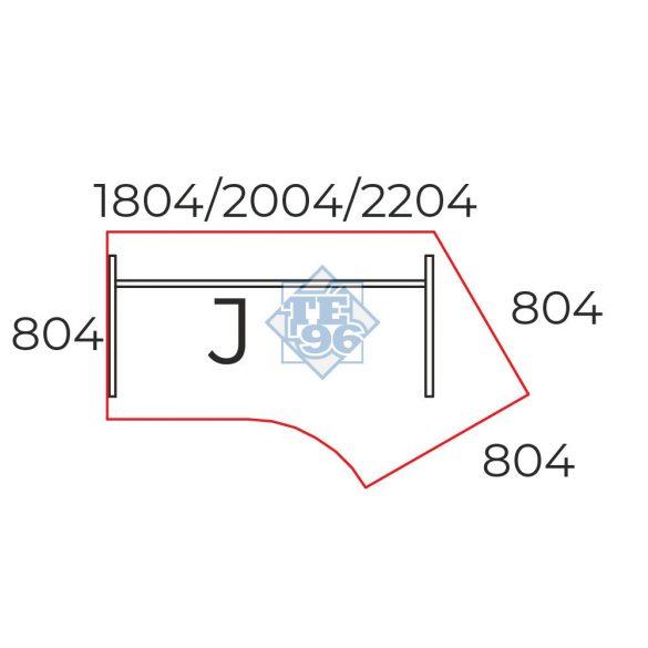 GS-180/110-J íróasztal