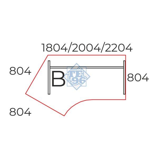 GS-180/110-B íróasztal