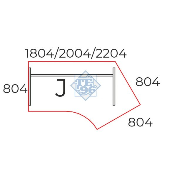 GS-200/110-J íróasztal