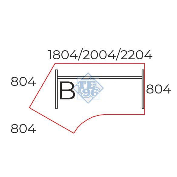 GS-200/110-B íróasztal