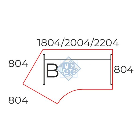 GS-220/110-B íróasztal