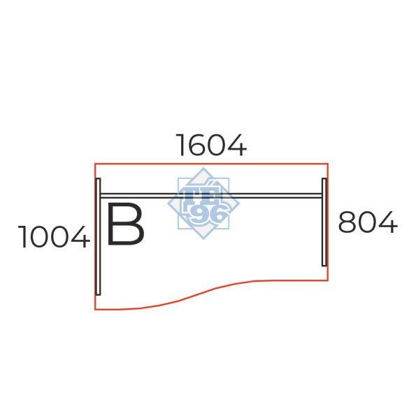 GN-160/100-B íves íróasztal (160 x 100 cm-es íves munkaasztal)