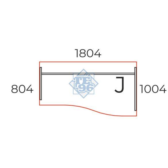 GN-180/100-J  Laplábas, íves íróasztal 180 x 100 cm-es méretben, jobbos kialakítással