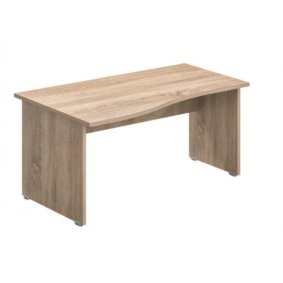 GN-180/100-B Laplábas, íves íróasztal 180 x 100 cm-es méretben, balos kialakítással