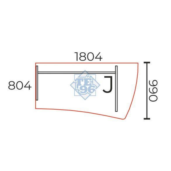 GP-180/99-J íves íróasztal (180 x 100 cm-es íróasztal)