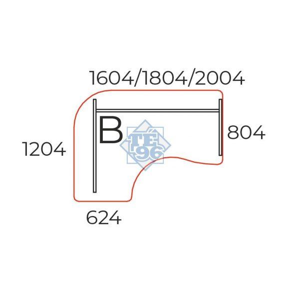 GE-160/120-B íves operatív asztal (160 x 120 cm-es íves)