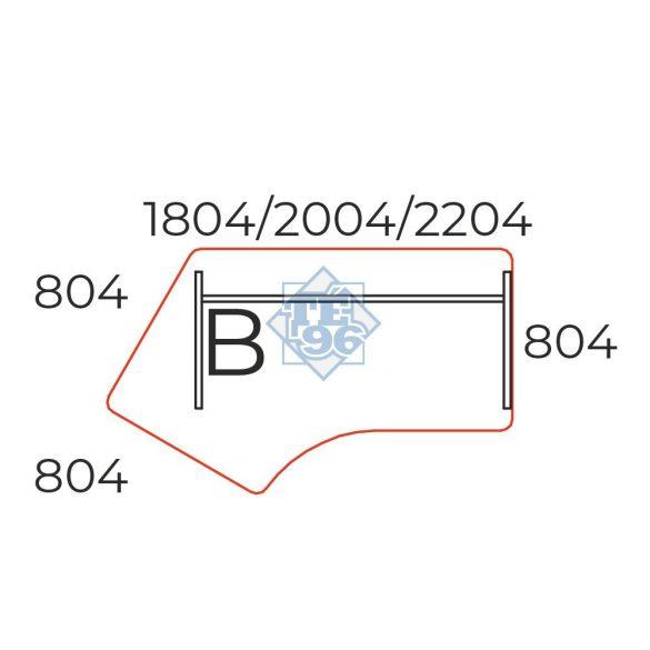 GZ-180/110-B íves íróasztal (180 x 110 cm-es íróasztal íves)