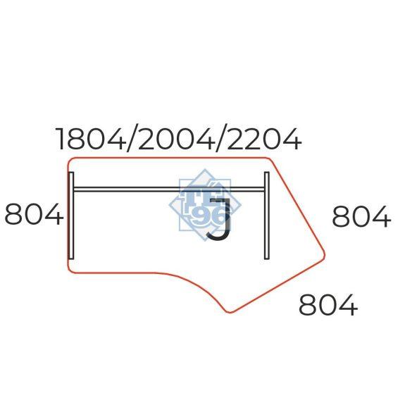 GZ-200/110-J íves íróasztal