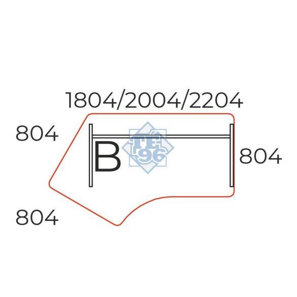 GZ-200/110-B íves íróasztal