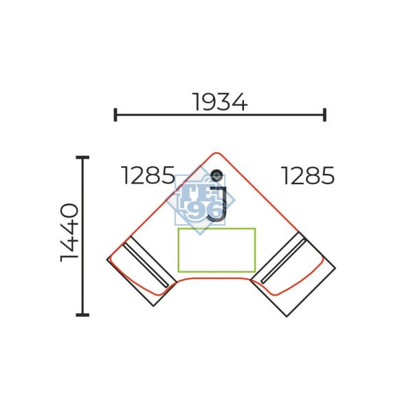 GH-177/119-J számítógépes munkahely (178 x 119 cm-es)