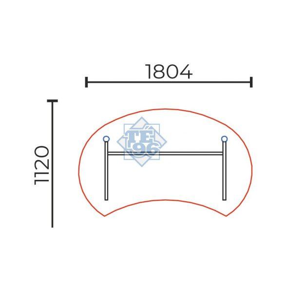 IG-180/100  Íves kialakítású vezetői íróasztal laplábbal, 180 x 100 cm-es méretben