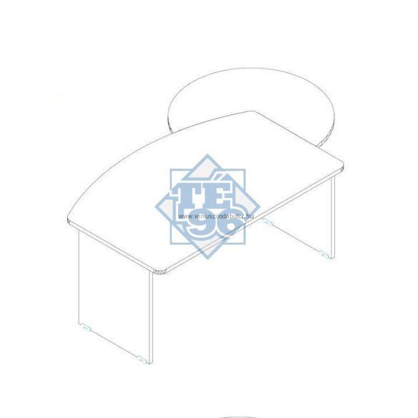 KEI-180/100 íves vezetői íróasztal 180 x 100 cm-es méretben