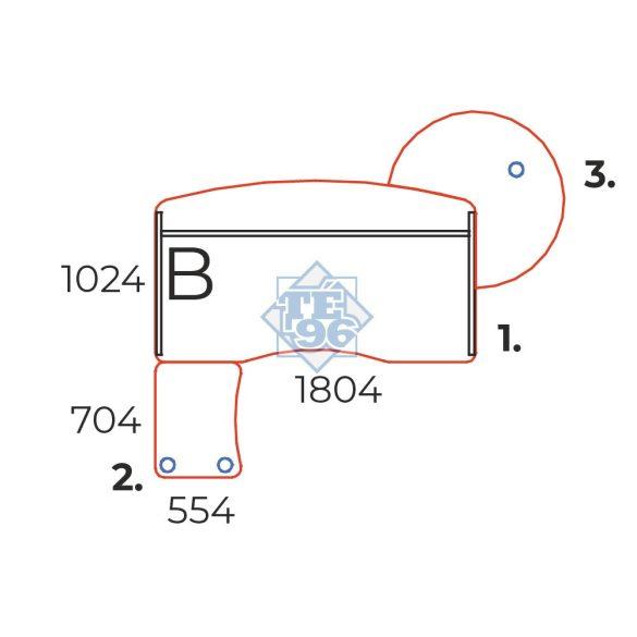 KIV-180/102 Vezetői íróasztal íves kialakítással és laplábbal, 180 x 102 cm-es méretben