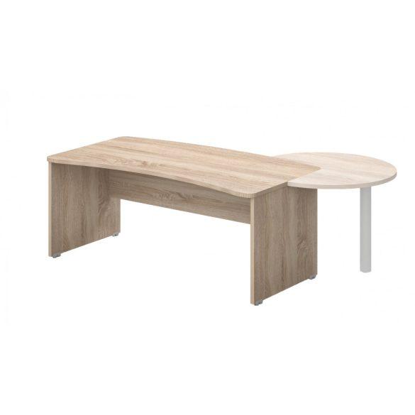 VD-180/100 vezetői íróasztal (180 x 100 cm-es íves vezetői)