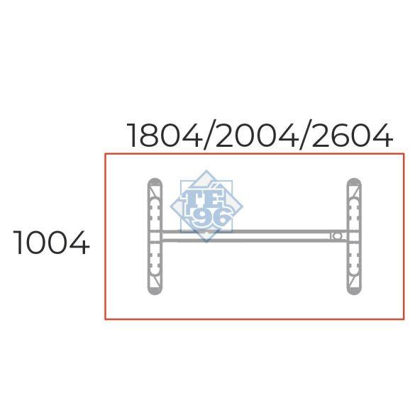 TA-180/100-S-LUX Sarkos tárgyalóasztal LUX fémlábbal, 180 x 100 cm-es méretben