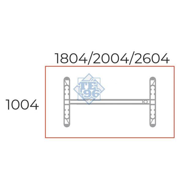 TA-200/100-S-LUX Tárgyalóasztal sarkos kivitelben és LUX fémlábbal, 200 x 100 cm-es méretben