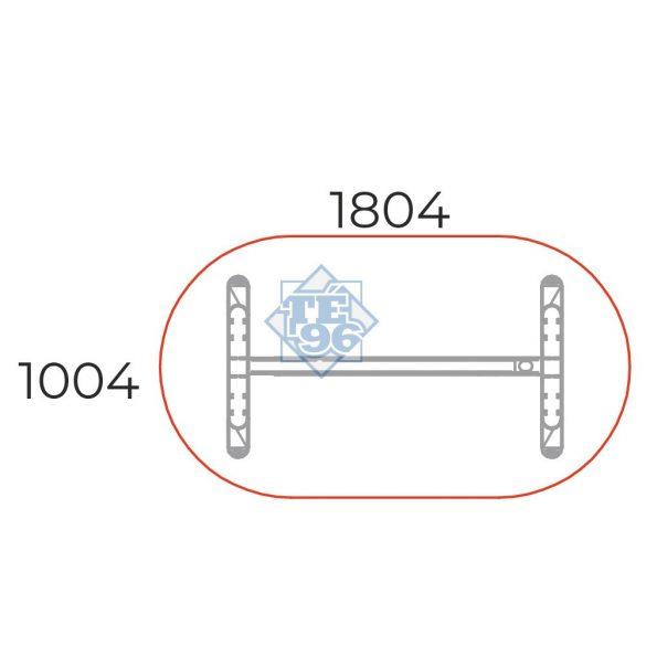 TA-180/100-O-LUX Ovális tárgyalóasztal LUX fémlábbal, 180 x 100 cm-es méretben