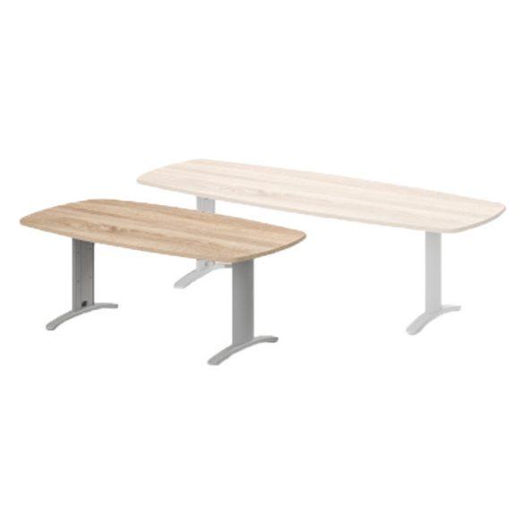 TSZ-200/100-LUX Tárgyalóasztal íves oldalakkal és LUX fémlábbal, 200 x 100 cm-es méretben