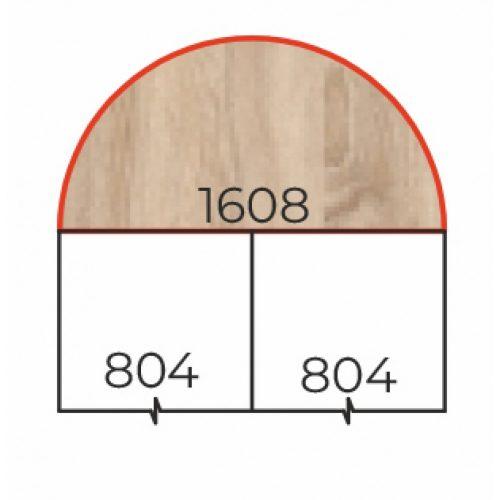 HE-80/180 Fém csőlábas 180 fokos csatlakozó tárgyalótoldat