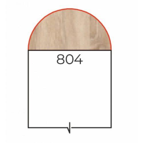 HE-40/180 sarokelem csőlábbal (Félköríves lezásróelem)
