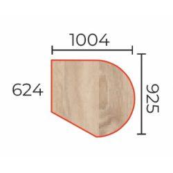 TO-100/92 asztalltoldat (Csatlakozó íves tárgyalótoldat fém)