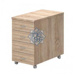 91-4F-FA, 4 fiókos konténer zárral, asztalmagas kivitelben