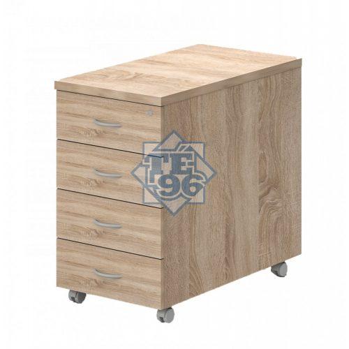 91-4F-FA, 4 fiókos konténer zárral, asztal magas kivitelben