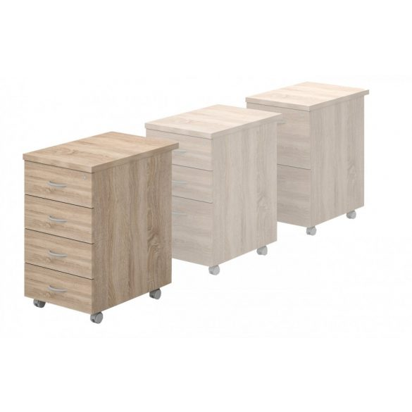 87-4F-FÉ négyfiókos konténer (Asztalmagas fémfiókos konténer)