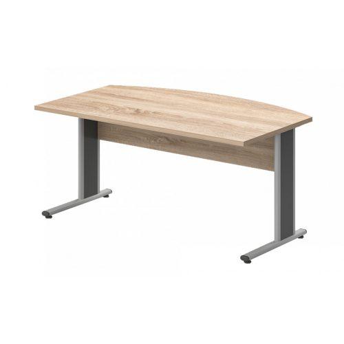 EI-180/100-AVA   Vezetői íróasztal íves kialakítással, AVA fémlábbal, 180 x 100 cm-es méretben