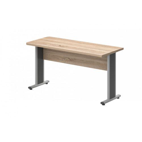 EK-140/62-AVA  Egy oldalon kerekített íróasztal AVA fémlábbal 140X 62 cm-es méretben