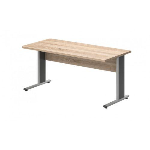 EK-160/80-AVA  Egy oldalon kerekített íróasztal AVA fémlábbal 160X 80 cm-es méretben
