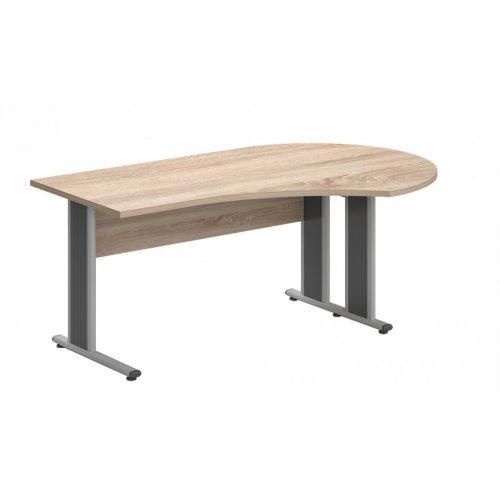GF-200/120-J-AVA   Íróasztal kerek tárgyalóvéggel, jobbos kialakítással, AVA fémlábbal