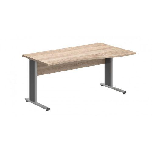 GN-180/100-J-AVA   Íróasztal belsőoldali hullámos kialakítássa, jobbos kivitelben, AVA fémlábbal