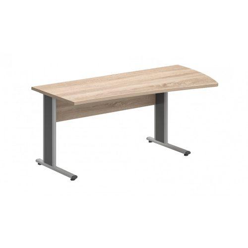 GP-180/99-J-AVA   Íves oldalú íróasztal jobbos kivitelben, AVA fémlábbal
