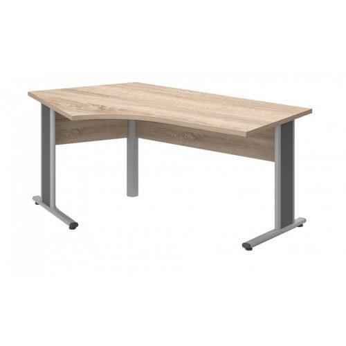 GS-220/110-B-AVA   Szögben álló nagyméretű asztal balos kivitelben, AVA fémlábbal