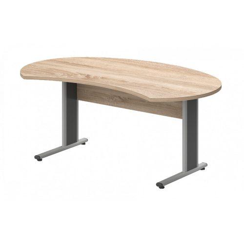 IG-180/100-AVA   Vezetői íróasztal íves kialakítással, AVA fémlábbal, 180 x 112 cm-es méretben