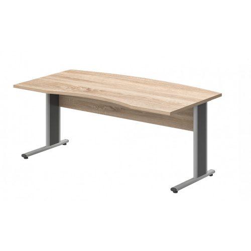 VA-180/100-AVA   Íves vezetői íróasztal AVA fémlábbal, 180 x 100 cm-es méretben