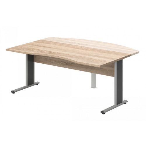VO-180/90-AVA   Belső oldalán íves vezetői íróasztal AVA fémlábbal, 180 x 90 cm-es méretben