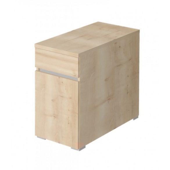 EX-1FA-B-AM   Asztalmagas konténer 1 fiókkal és balra nyíló ajtóval, standard mélységgel