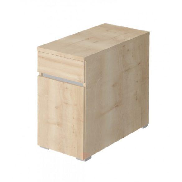 EX-1FA-J-AM   Asztalmagas konténer 1 fiókkal és jobbra nyíló ajtóval, standard mélységgel