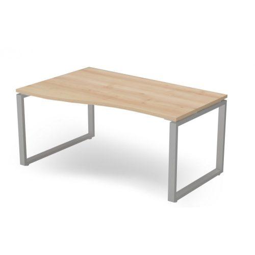 EX-GN-158/100-B-FL2  Belső oldalán íves operatív asztal FL2 fémlábbal, balos kivitelben