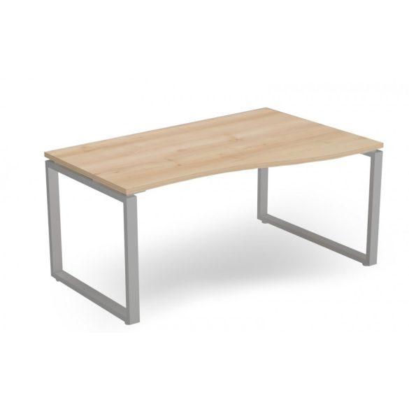 EX-GN-158/100-J-FL2  Belső oldalán íves operatív asztal FL2 fémlábbal, jobbos kivitelben, 158 x 100 cm-es méretben