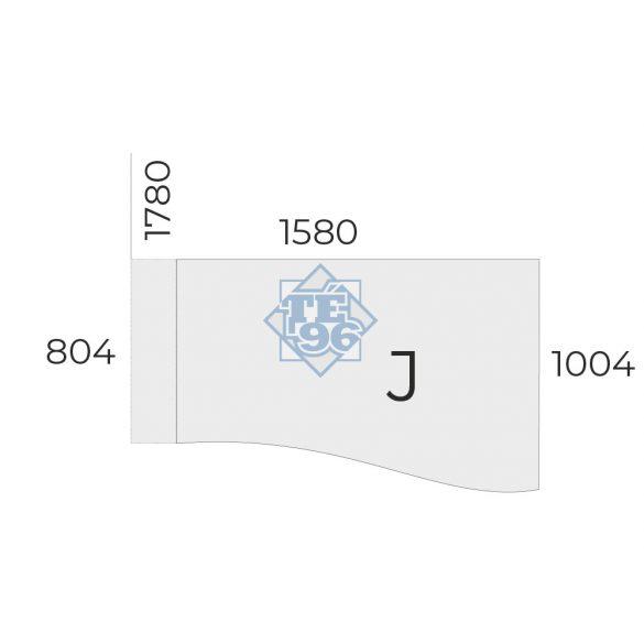 EX-GN-158/100-J-FL6   Sarkos munkaasztal  jobbos, állítható magasságú FL6 fémlábbal