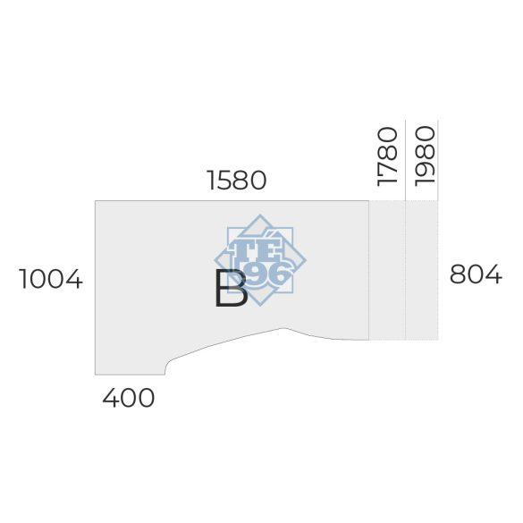 EX-HA-158/100-B-FL1 sarkos operatív asztal