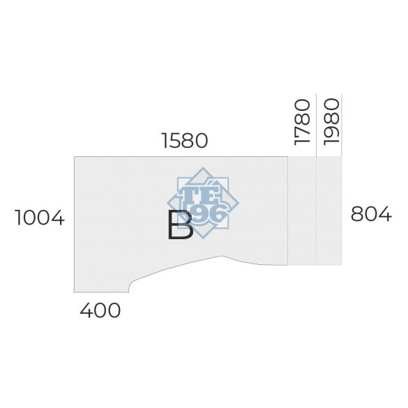 EX-HA-198/100-B-FL5 sarkos operatív asztal