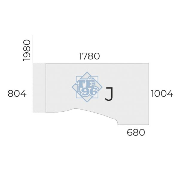 """EX-HB-198/100-J-FL6   """"L"""" alakú munkaasztal  jobbos, állítható magasságú FL6 fémlábbal"""