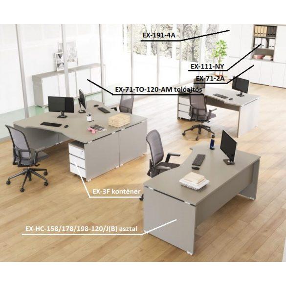 EX-HC-158/120-B sarkos operatív asztal
