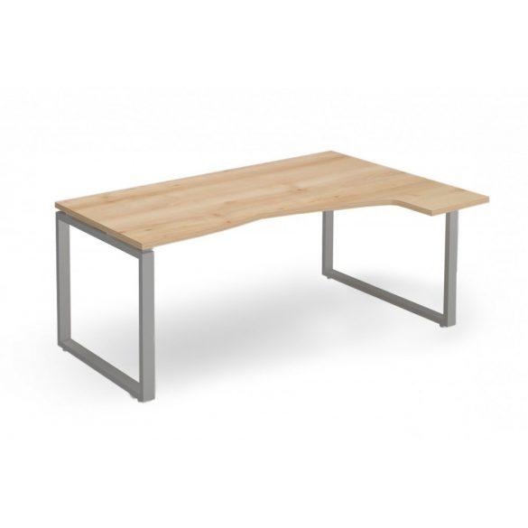 """EX-HC-198/120-J-FL2   """"L"""" alakú operatív asztal FL2 fémlábbal, jobbos kivitelben, 198 x 120 cm-es méretben"""